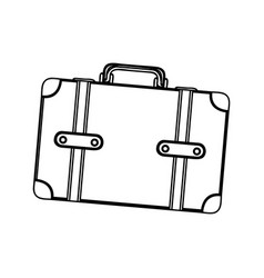 monochrome silhouette of suitcase with handle vector image