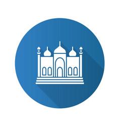 mosque flat design long shadow glyph icon vector image