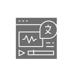Online language translation site grey icon vector