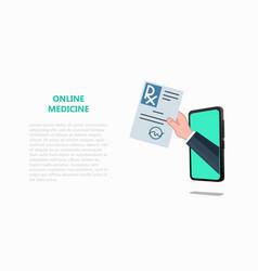 online tele medicine drugstore pharmacy concept vector image