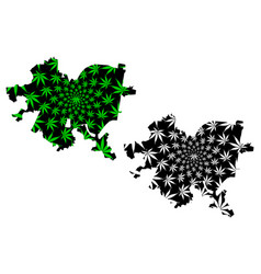 Pittsburgh city - map is designed cannabis leaf vector