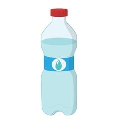 Plastic bottle of water cartoon icon vector