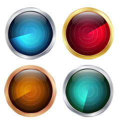 Radar sign set abstract coordinates vector
