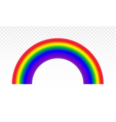 Realistic rainbow icon isolated on a transparent vector