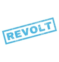 Revolt Rubber Stamp vector