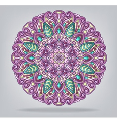 Round ornamental ethnic ornament vector