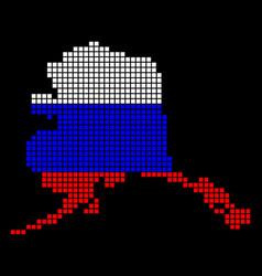 Russia colors dot alaska map vector
