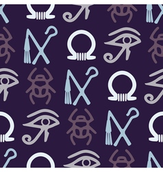 Seamless background with Egyptian symbols vector