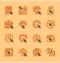 set icons banks and money vector image