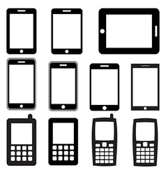 Set mobile phones and tablets eps 10 vector