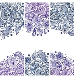 Set of Beautiful vintage ornate banners vector image
