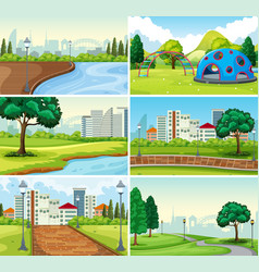 set park background vector image