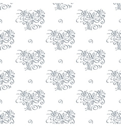 Simple flower background vector