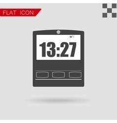 Simple of clock with hour vector image