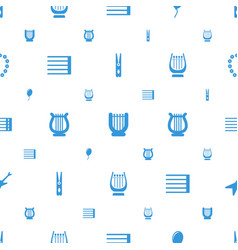 String icons pattern seamless white background vector