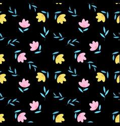 summer flower seamless pattern background eps10 vector image
