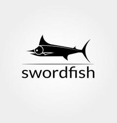 Swordfish logo design food icon vector