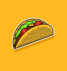 Taco icon logo vector