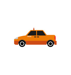 taxi car graphic design element vector image