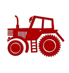 tractor car icon vector image