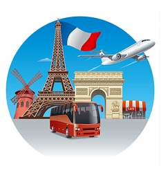 Travel and tour in france vector