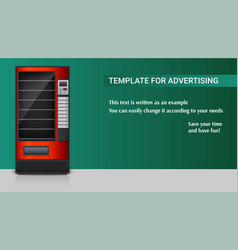 vending machine for the sale of snacks soda or vector image