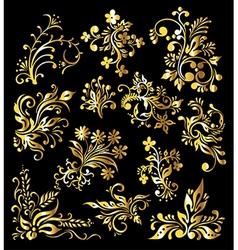 Vintage Golden Decoration Elements vector image