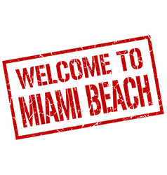 Welcome to miami beach stamp vector