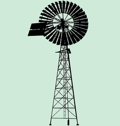 Windpump silhouette vector