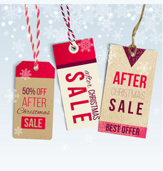 after christmas sale tags vector image vector image