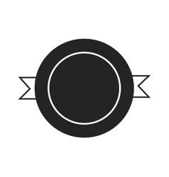Design elements black color badge logo icon vector image