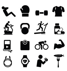 Fitness and leisure icons vector image vector image