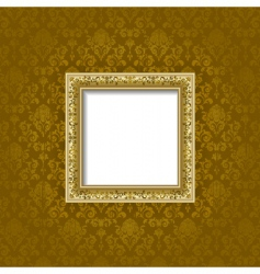 golden frame and background vector image