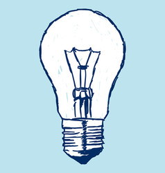 Incandescent Bulb Over Blue vector image vector image