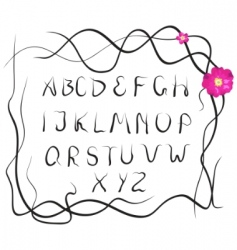 plant alphabet vector image vector image