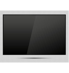 Tv modern blank screen lcd led on isolate vector