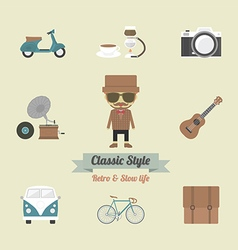 113hipster life vector image