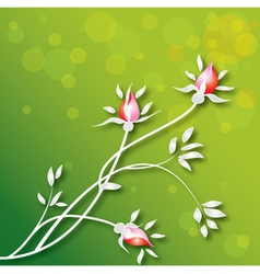 flowers-background vector image