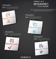 infographics minimal 5 vector image