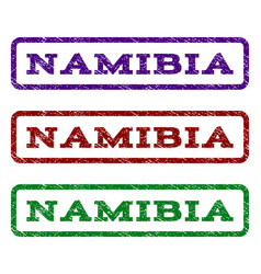 namibia watermark stamp vector image vector image