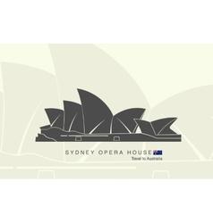 Sydney opera house in australia vector
