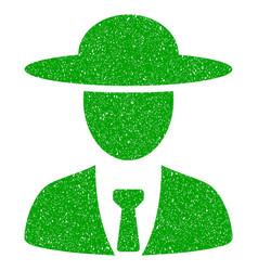 Agronomist chief icon grunge watermark vector