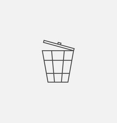 Ecological flat symbol of eco web line icon vector