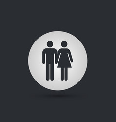 male and female hands togather icon vector image vector image