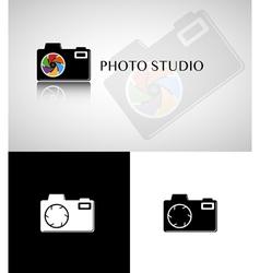 Photo studio logo vector image vector image