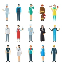 Profession avatar icons set vector image vector image