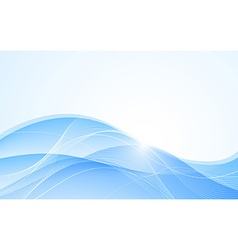 Abstract blue background with wave vector image