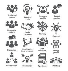 Business management icons Pack 14 vector image