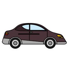 car sedan vehicle transport vector image vector image