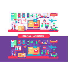 digital marketing design flat vector image